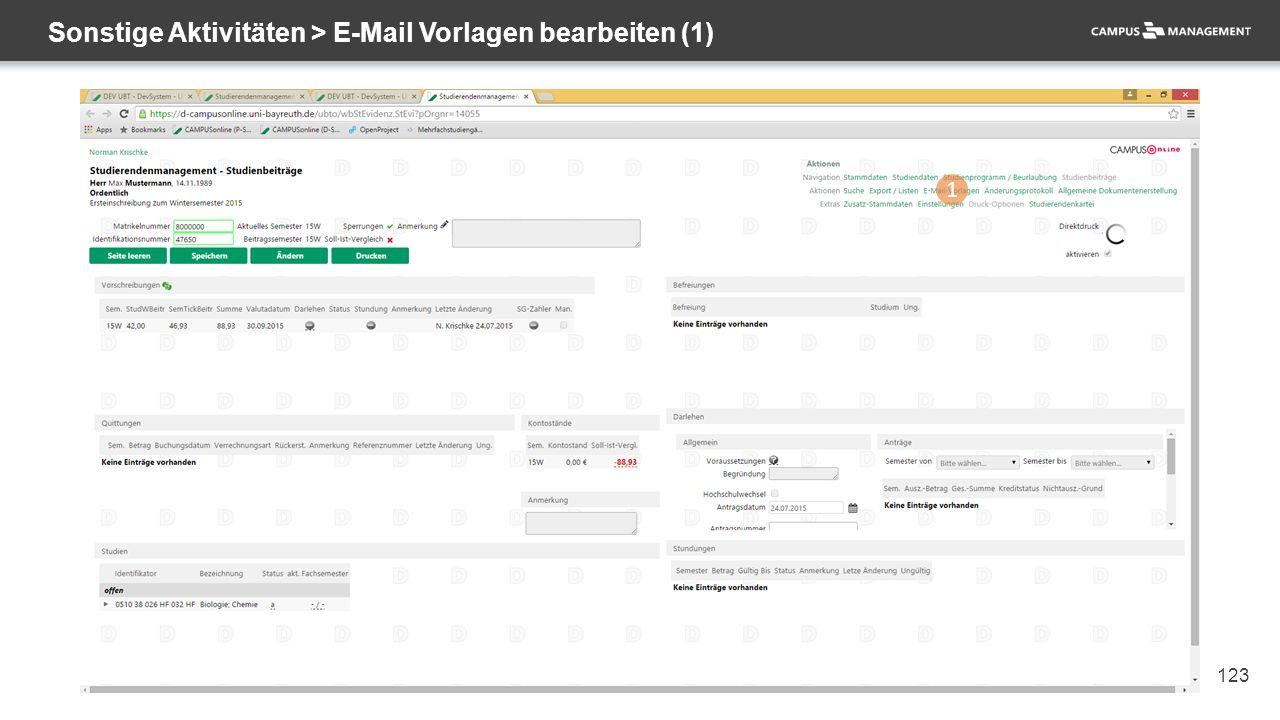 123 Sonstige Aktivitäten > E-Mail Vorlagen bearbeiten (1) 1