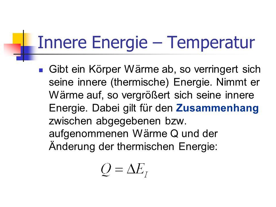 Energieumwandlung Energie wird durch Verrichten von mechanischer Arbeit zugeführt: