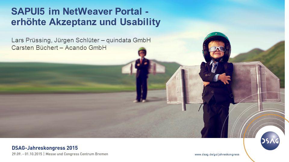 2 © 2015 DSAG AGENDA 1.Raiffeisen Warenzentrale, quindata und Acando 2.Ein neues Portal - Anforderungen und Erwartungen 3.SAP NetWeaver als strategische Plattform 4.SAPUI5 im NetWeaver Portal 5.Erfolgsfaktoren im Projekt 6.Fazit und Ausblick