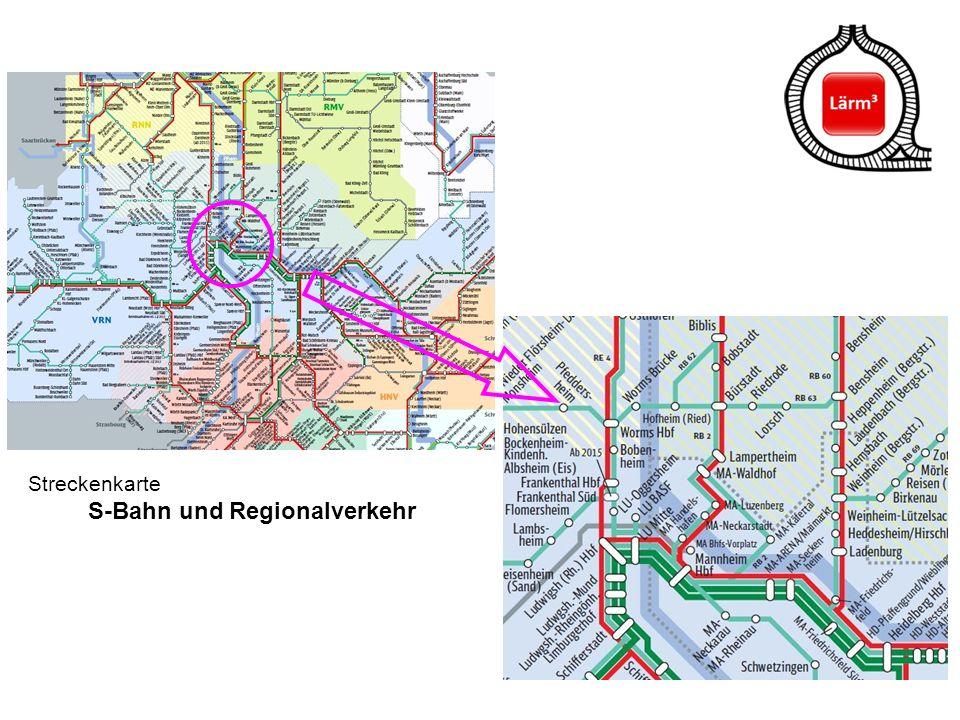 41 Streckenkarte S-Bahn und Regionalverkehr