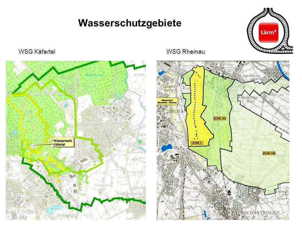 43 Wasserschutzgebiete WSG Käfertal WSG Rheinau