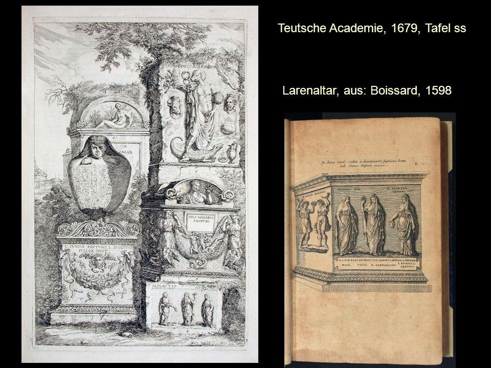 Larenaltar, aus: Boissard, 1598