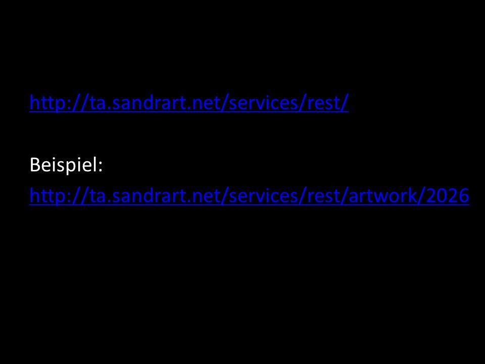 http://ta.sandrart.net/services/rest/ Beispiel: http://ta.sandrart.net/services/rest/artwork/2026