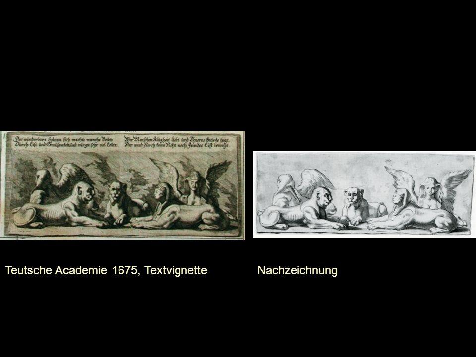 Teutsche Academie 1675, Textvignette Nachzeichnung
