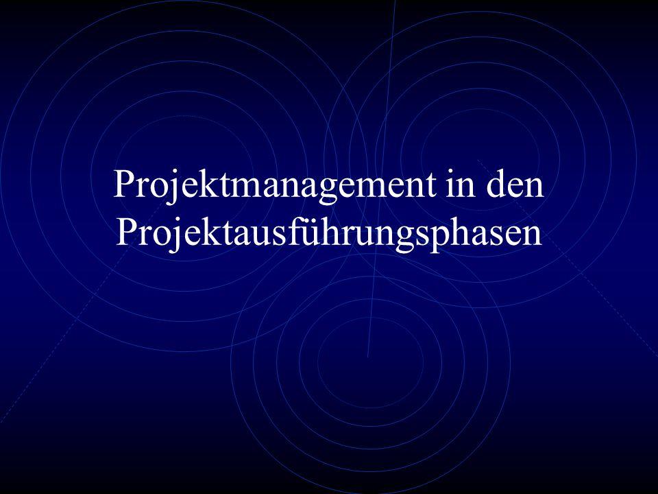Projektmanagement in den Projektausführungsphasen