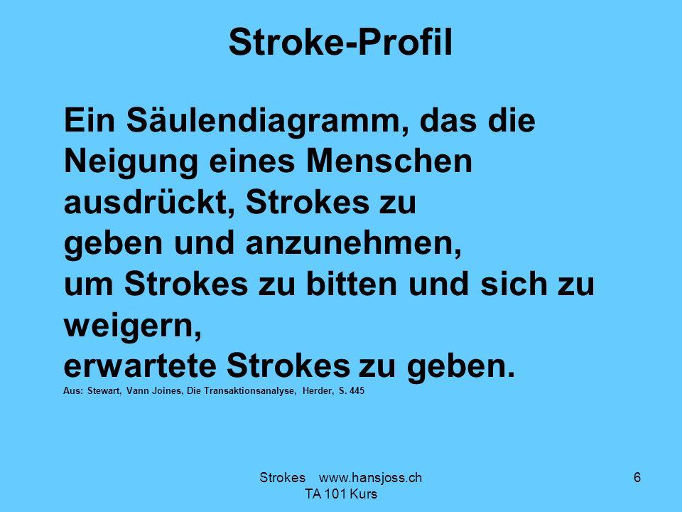 Stroke-Profil Ein Säulendiagramm, das die Neigung eines Menschen ausdrückt, Strokes zu geben und anzunehmen, um Strokes zu bitten und sich zu weigern,