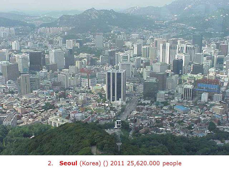 2. Seoul (Korea) () 2011 25,620.000 people