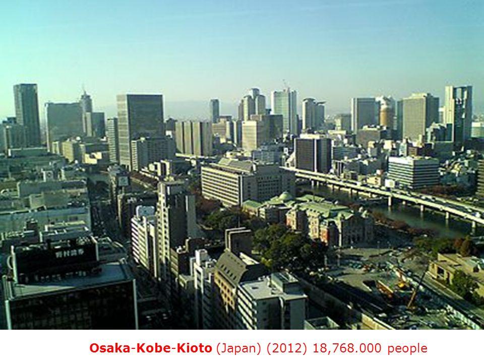 11. Osaka-Kobe-Kioto (Japan) (2012) 18,768.000 people