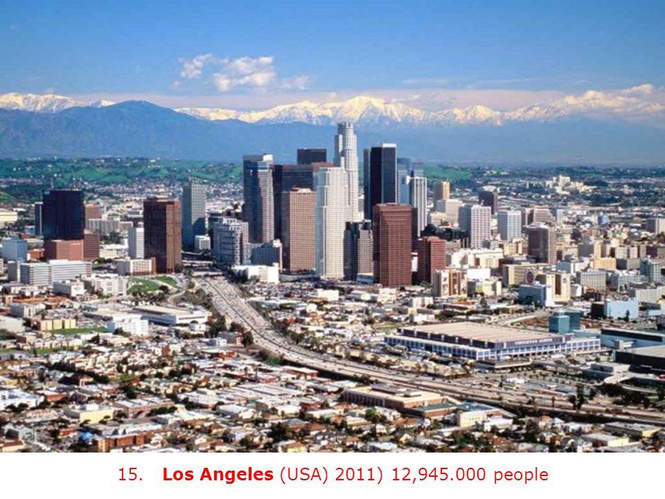 15. Los Angeles (USA) 2011) 12,945.000 people