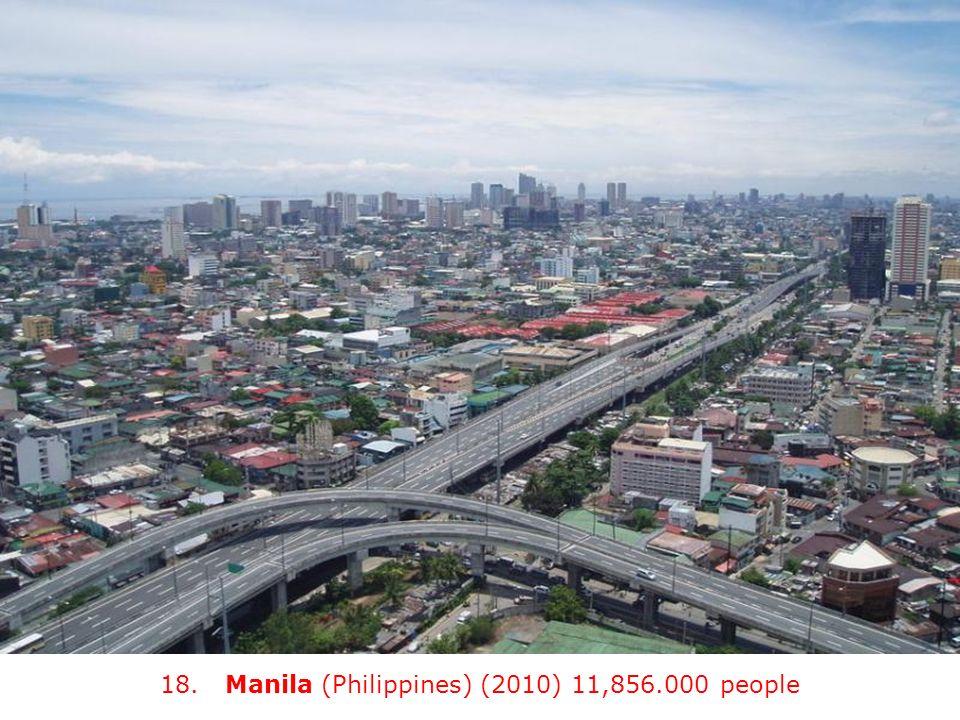 18. Manila (Philippines) (2010) 11,856.000 people