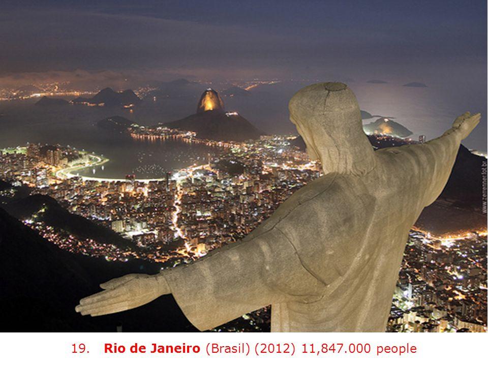 19. Rio de Janeiro (Brasil) (2012) 11,847.000 people