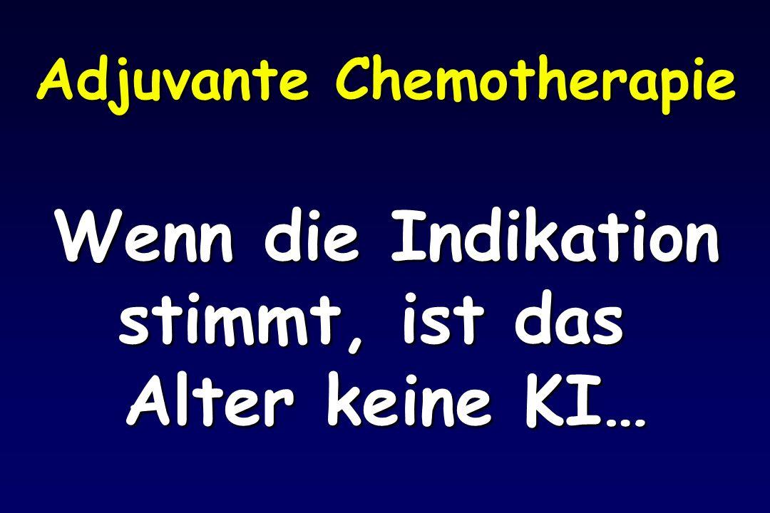 Adjuvante Chemotherapie Wenn die Indikation stimmt, ist das Alter keine KI…