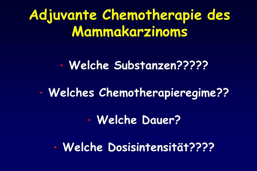 Adjuvante Chemotherapie des Mammakarzinoms Welche Substanzen????.
