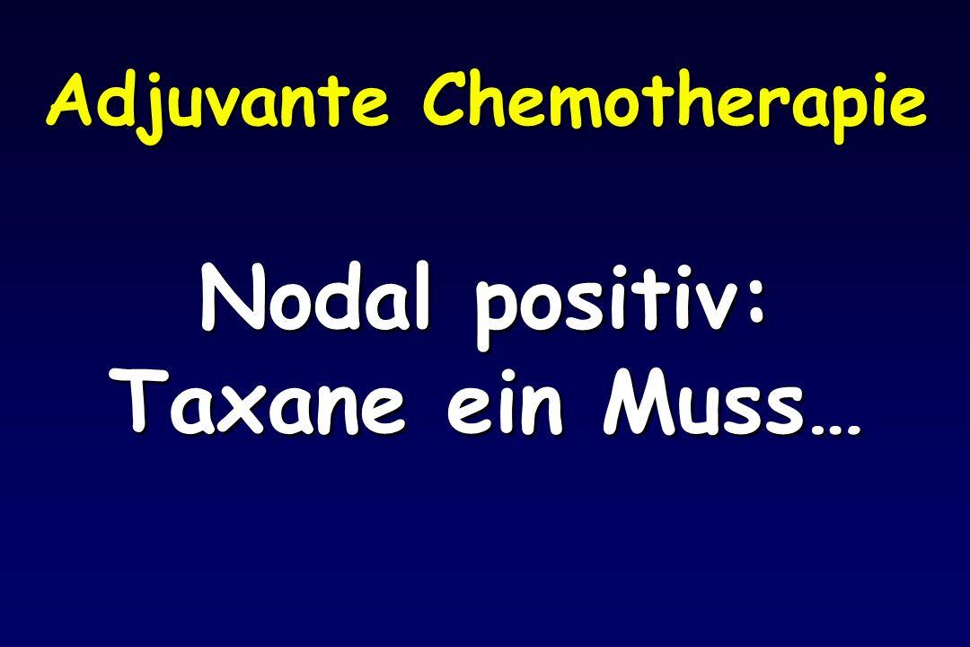 Adjuvante Chemotherapie Nodal positiv: Taxane ein Muss…