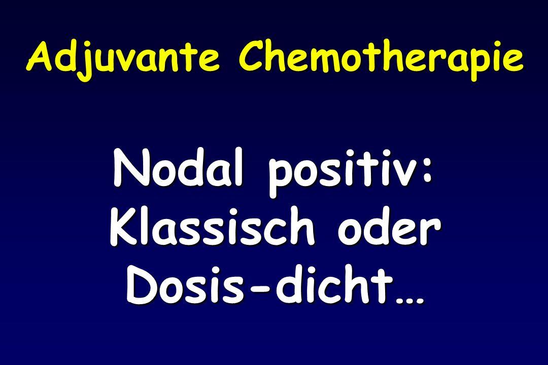 Adjuvante Chemotherapie Nodal positiv: Klassisch oder Dosis-dicht…