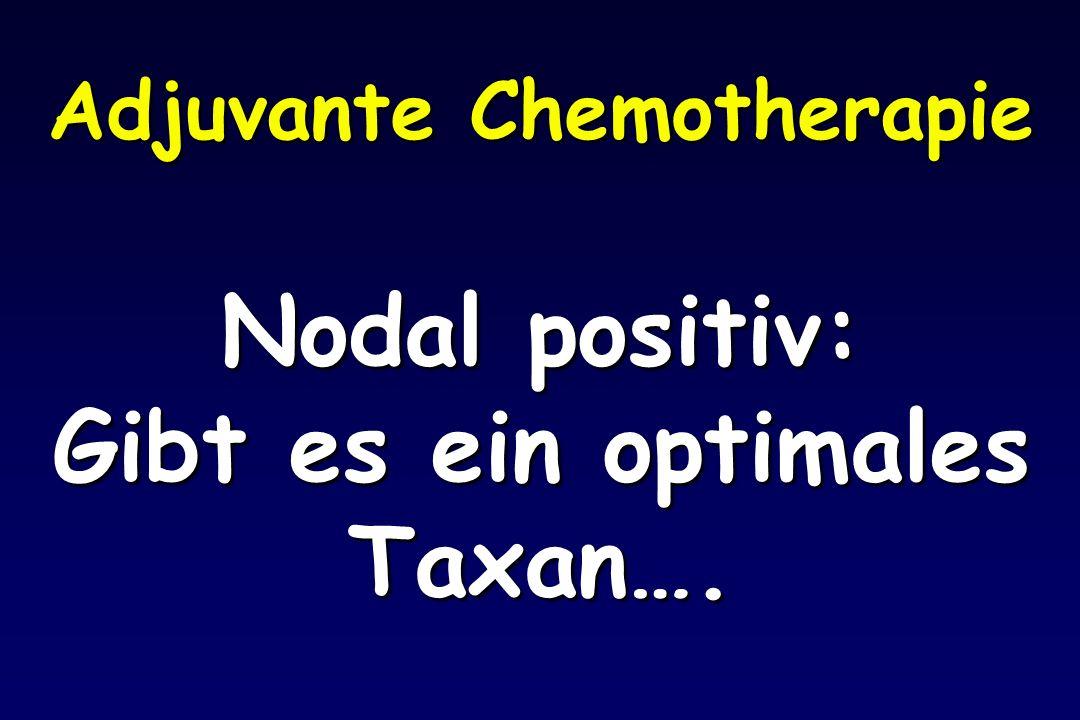 Adjuvante Chemotherapie Nodal positiv: Gibt es ein optimales Taxan….