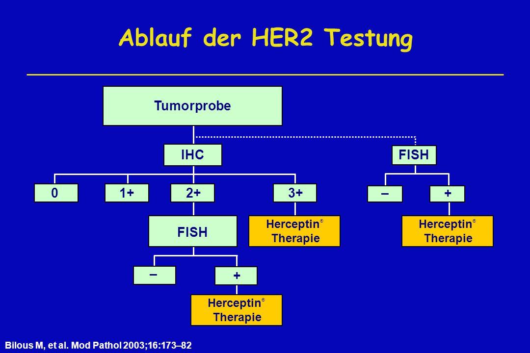 Ablauf der HER2 Testung Bilous M, et al.