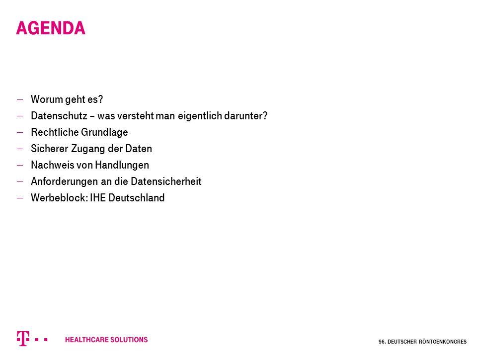 Worum geht es eigentlich? Datenaustausch … zwischen Krankenhäusern 96. Deutscher Röntgenkongres