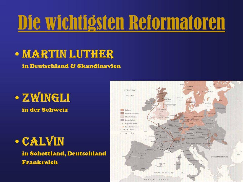 Martin Luther 1483 geboren predigte gegen den Ablasshandel verfasste 95 Thesen übersetzte die Bibel ins Deutsche Starb 1546