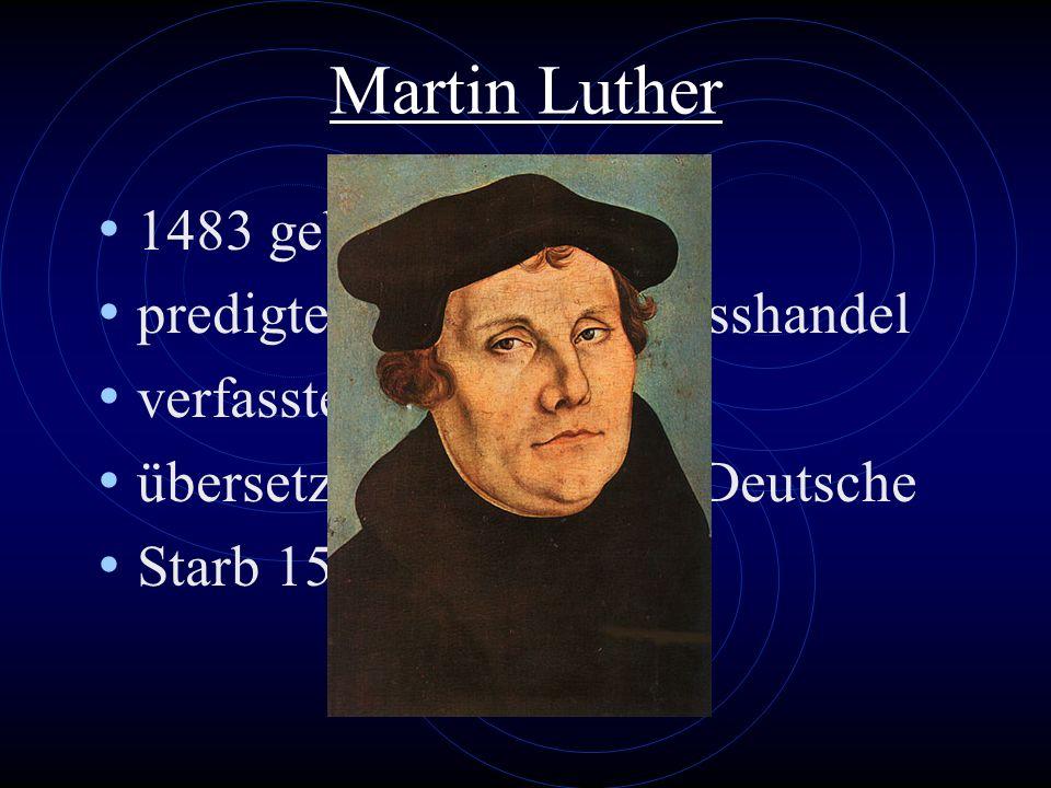 Luthers Bibelübersetzung 1521 übersetzte er das Neue Testament in nur 11 Wochen ins Deutsche.