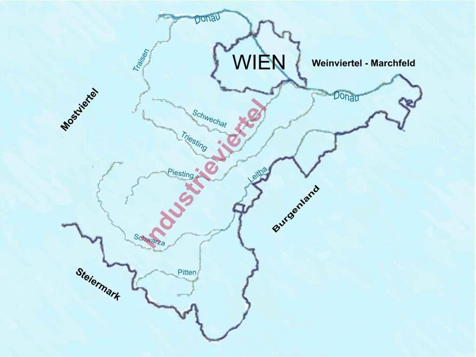 Die Pitten – die Bundesstraße und die A2 (Autobahn) Schneeberg