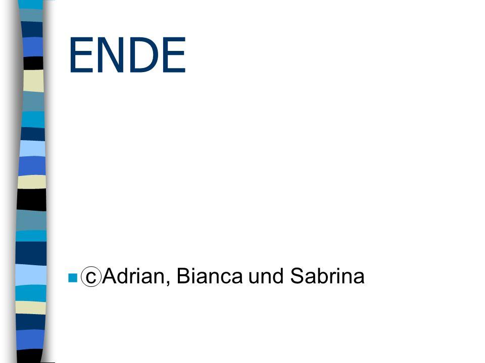 ENDE n c Adrian, Bianca und Sabrina