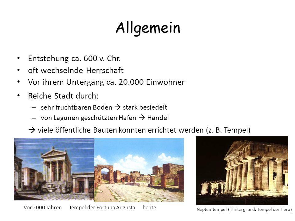 Allgemein Entstehung ca. 600 v. Chr. oft wechselnde Herrschaft Vor ihrem Untergang ca. 20.000 Einwohner Reiche Stadt durch: – sehr fruchtbaren Boden 