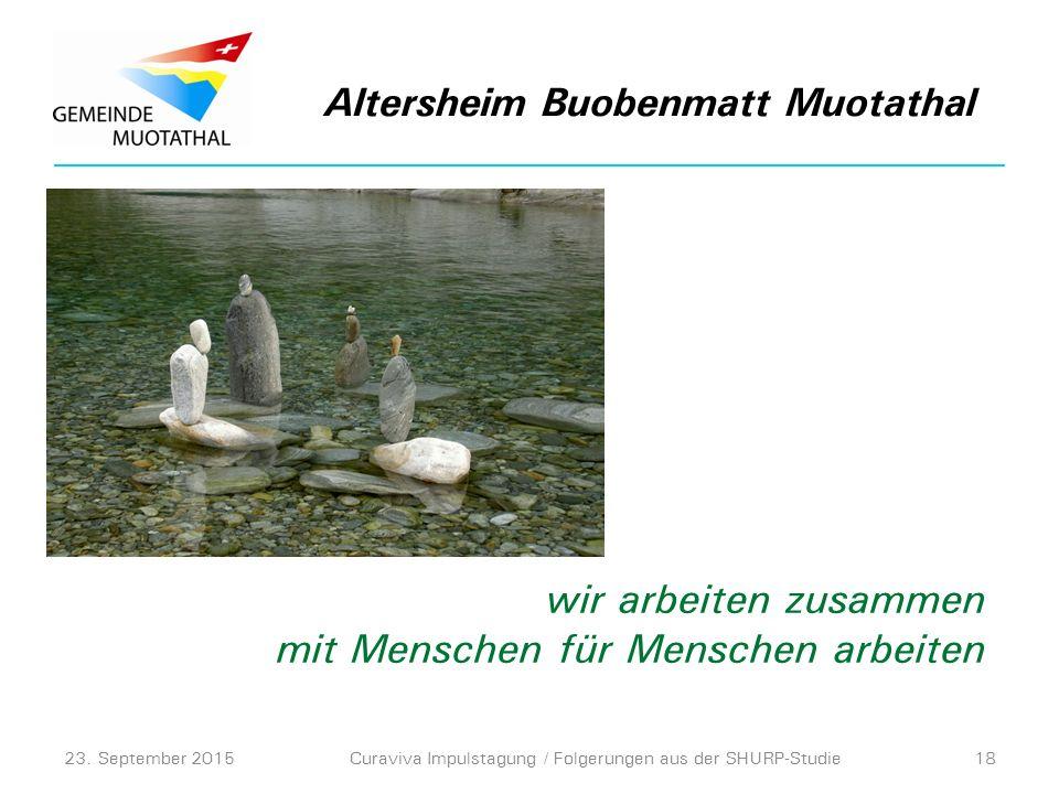 Altersheim Buobenmatt Muotathal 23.