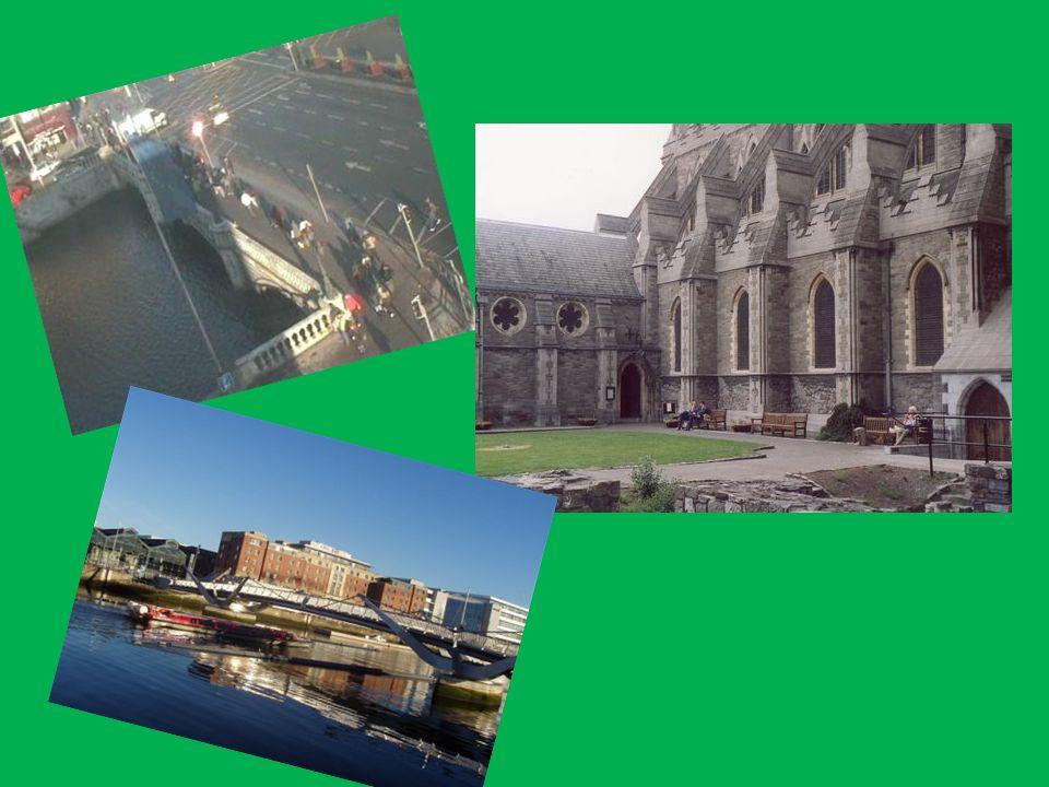 Ein weiteres Wahrzeichen Dublins Innerhalb der Stadtgrenzen leben offiziell circa 500.000 Einwohner. In der Region Dublin, die auch die Vororte und Sa