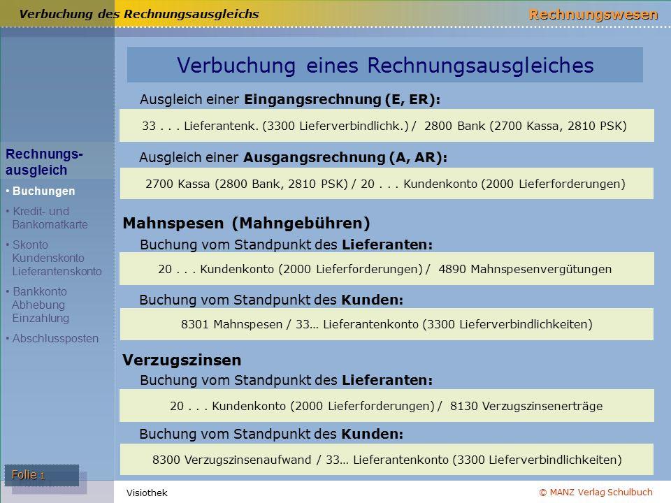 © MANZ Verlag Schulbuch Rechnungswesen Visiothek Folie 1 33...