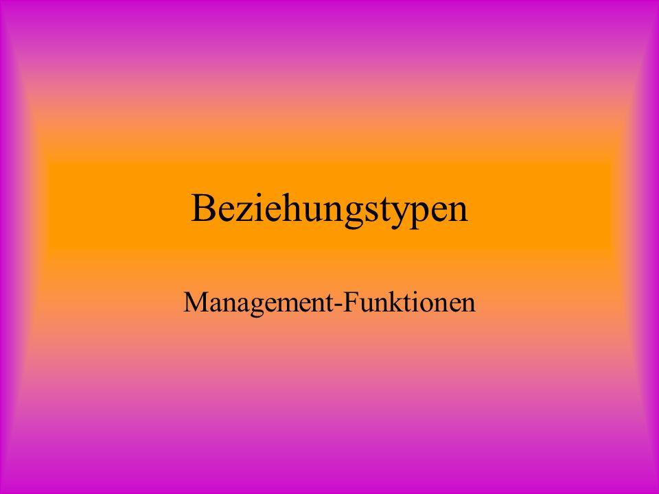 Beziehungstypen Management-Funktionen