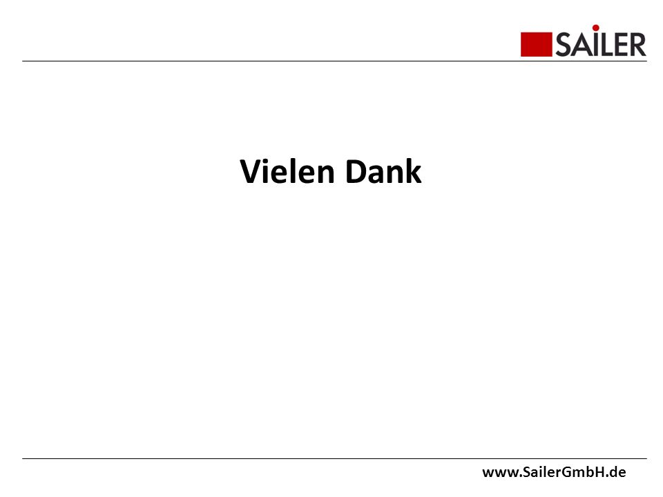Vielen Dank www.SailerGmbH.de