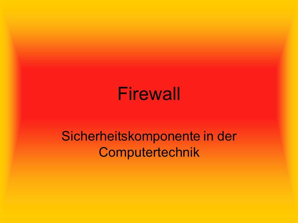 Firewall Sicherheitskomponente in der Computertechnik