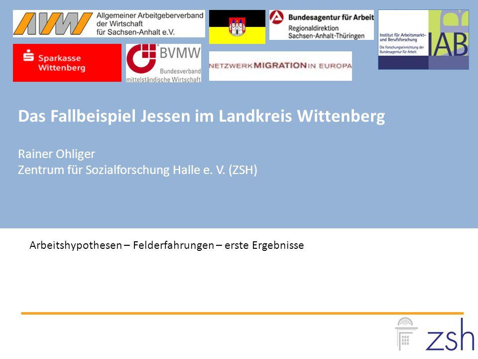 Das Fallbeispiel Jessen im Landkreis Wittenberg Rainer Ohliger Zentrum für Sozialforschung Halle e.