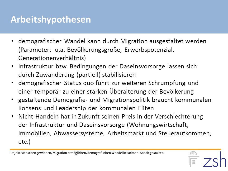 demografischer Wandel kann durch Migration ausgestaltet werden (Parameter: u.a.