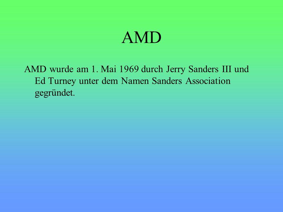 AMD Produkte Eine neu Entwicklung von AMD ist die 64 Bit Technologie.