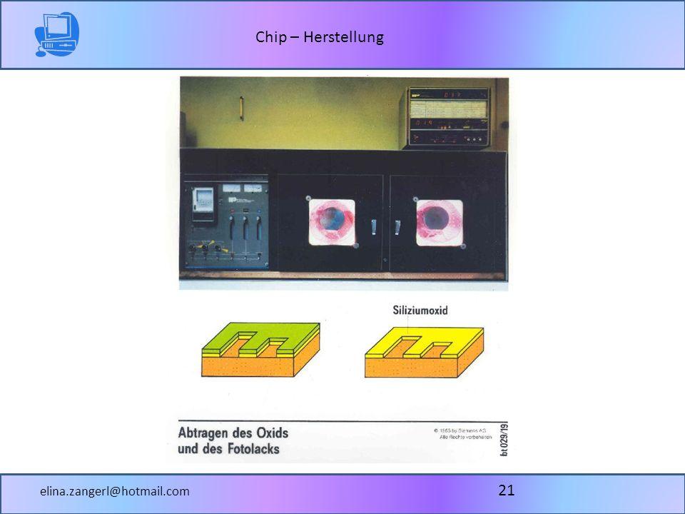 Chip – Herstellung elina.zangerl@hotmail.com 21