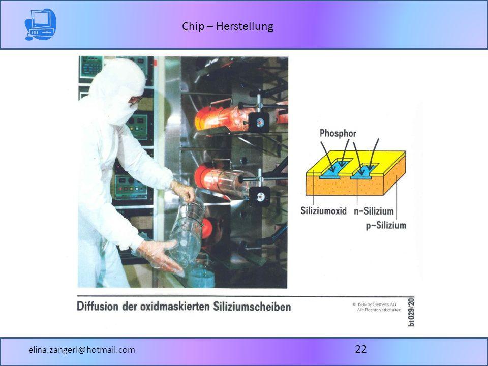 Chip – Herstellung elina.zangerl@hotmail.com 22