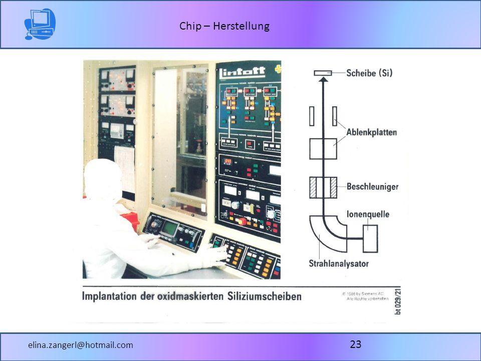 Chip – Herstellung elina.zangerl@hotmail.com 23