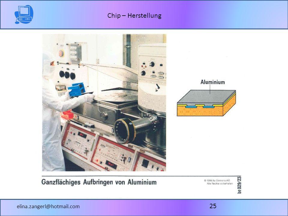 Chip – Herstellung elina.zangerl@hotmail.com 25