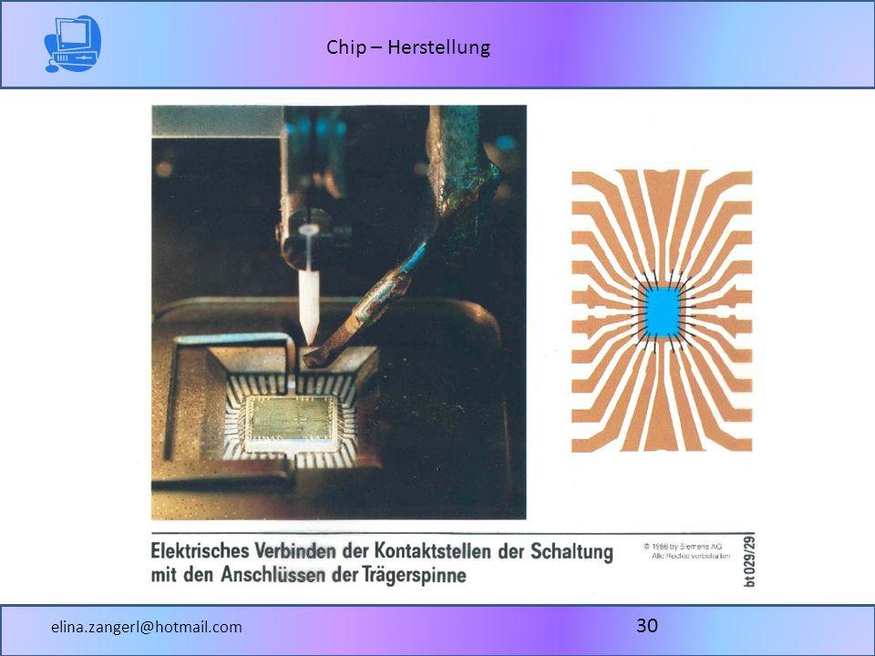 Chip – Herstellung elina.zangerl@hotmail.com 30