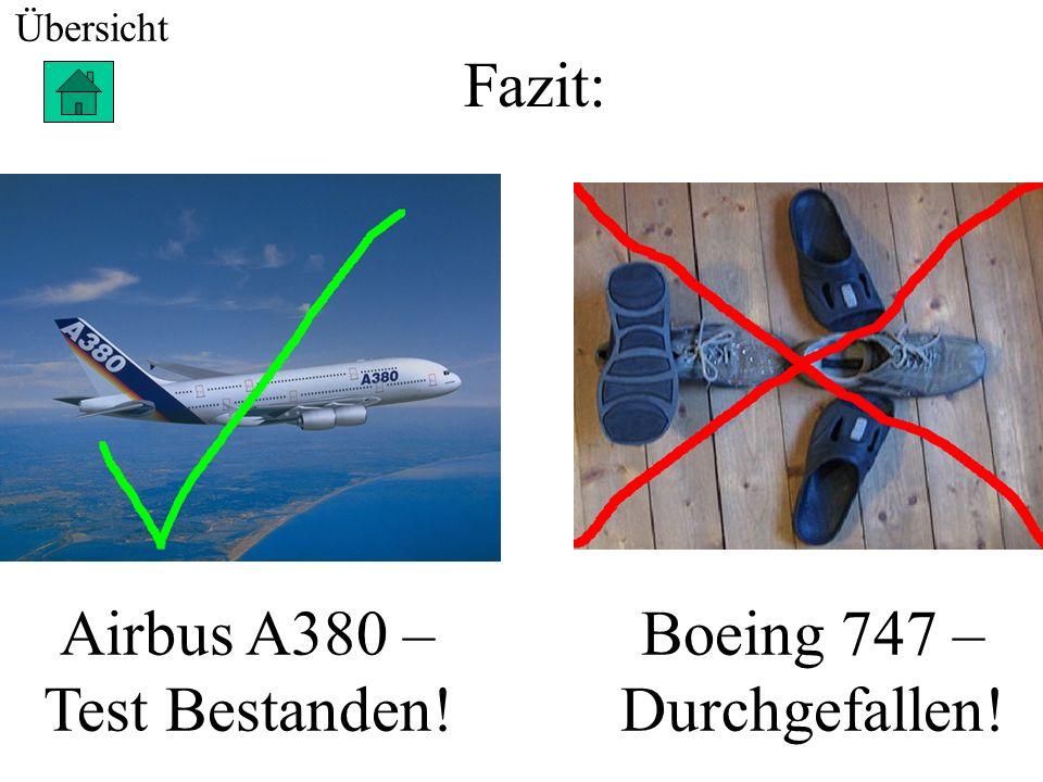 Technische Daten zum Airbus Länge: 72,3m Breite: 79,8m Höhe: 24,1m Kapazität: 853 Passagiere + Personal Reichweite: 15.000 km Gewicht: 275 Tonnen Über