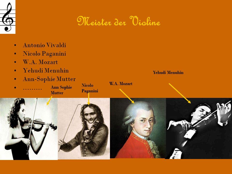 Meister der Violine Antonio Vivaldi Nicolo Paganini W.A.