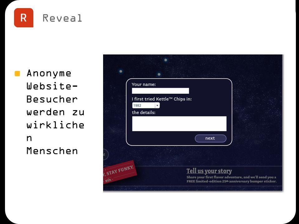 Reveal Anonyme Website- Besucher werden zu wirkliche n Menschen