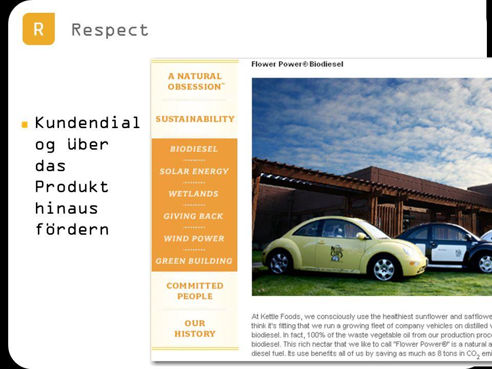 Respect Kundendial og über das Produkt hinaus fördern
