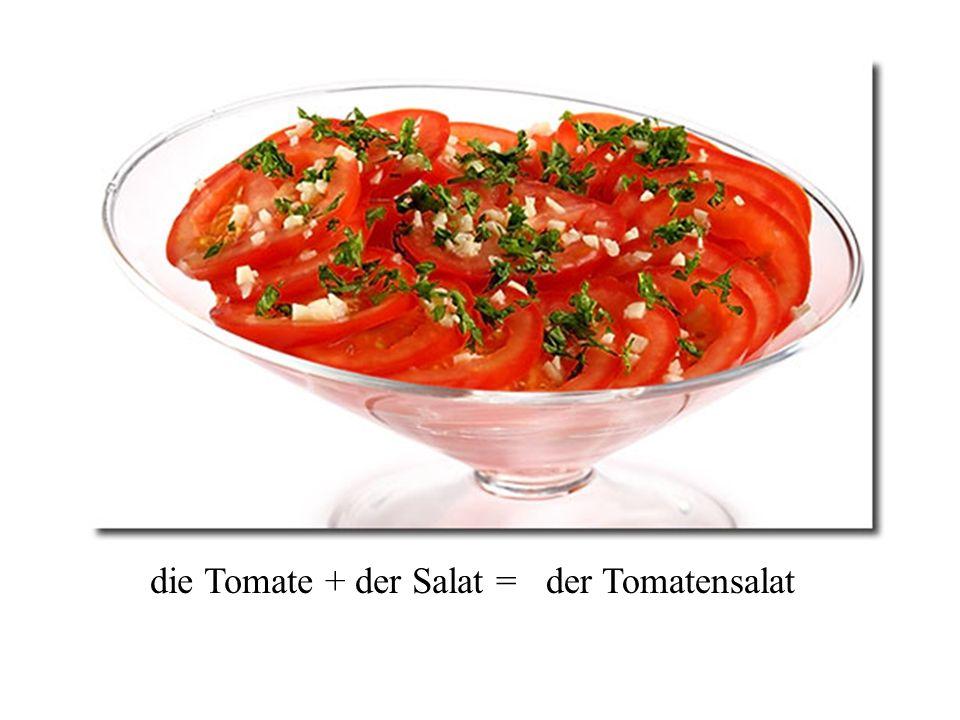 die Karotte + der Salat = der Karottensalat