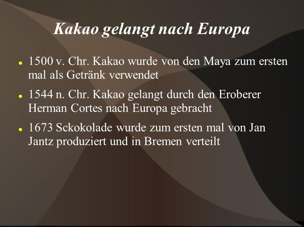 Geschichte von Schokolade 18.-19.