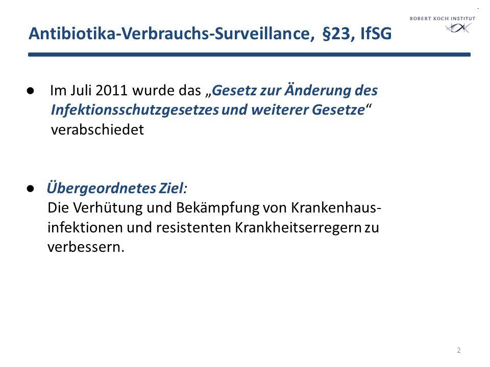 Antibiotika-Verbrauchs-Surveillance, §23, IfSG 3 Im Paragraph 23 Abs.