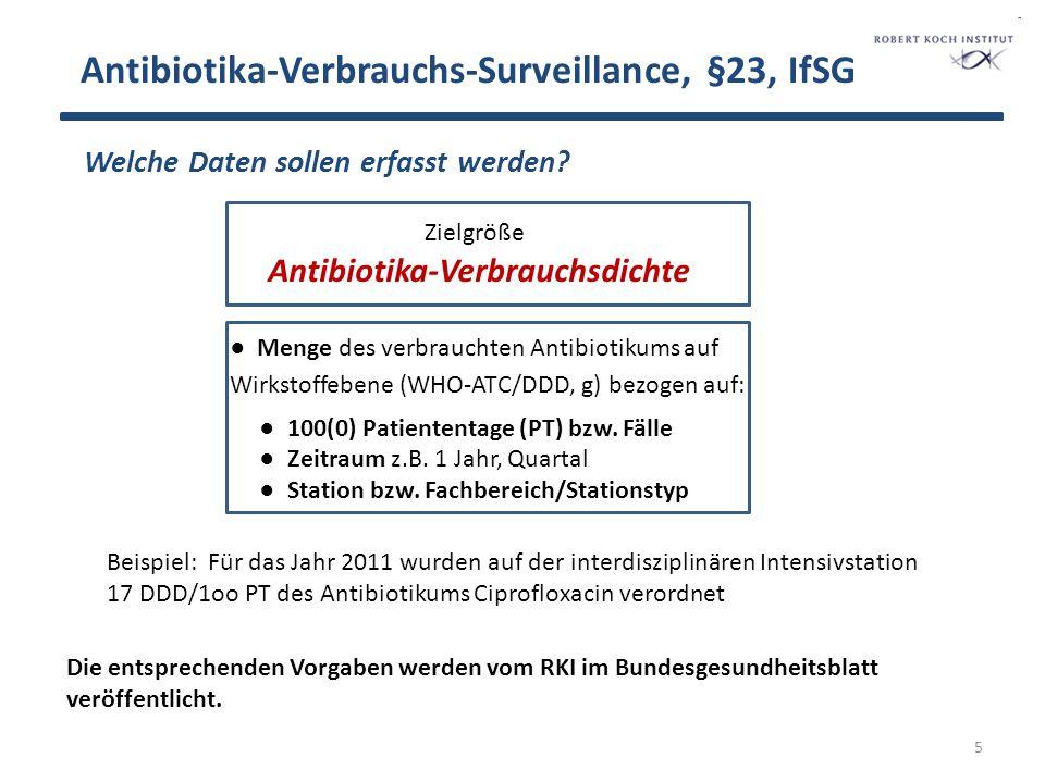 Antibiotika-Verbrauchs-Surveillance, §23, IfSG 6 Wer erhebt die Daten bzw.