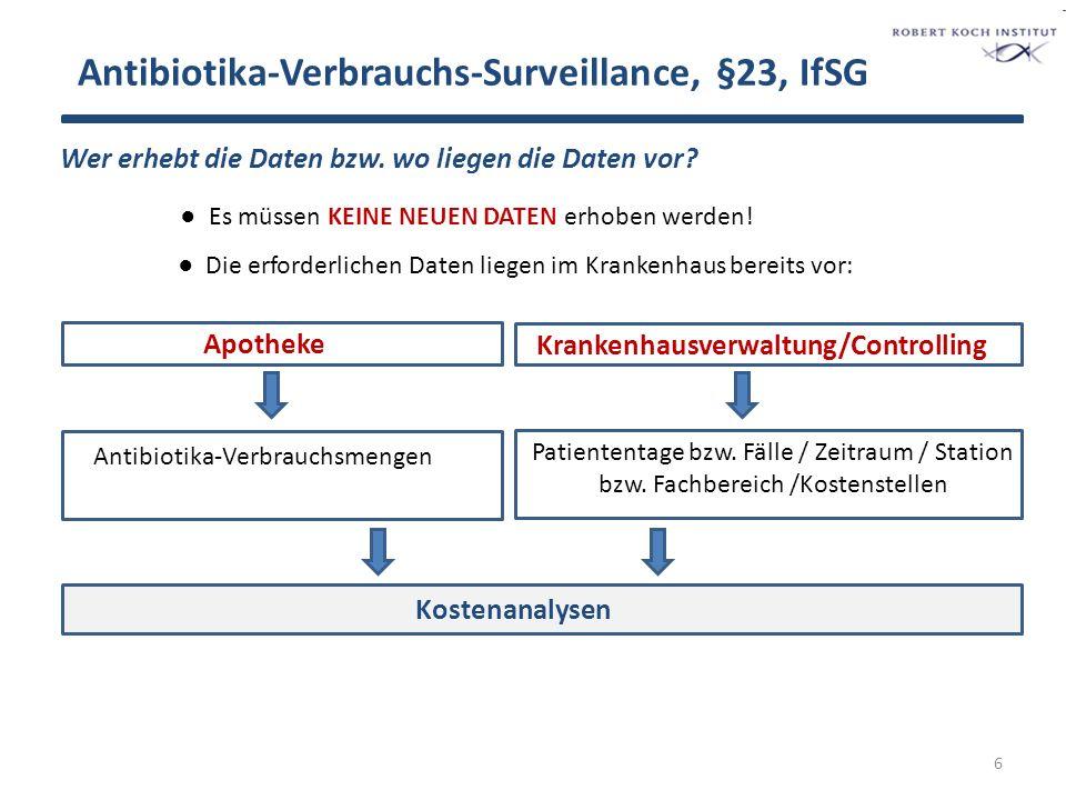 Antibiotika-Verbrauchs-Surveillance, §23, IfSG Wer erhebt die Daten bzw.